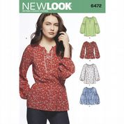 6472 New Look Pattern: Misses' Boho Blouses